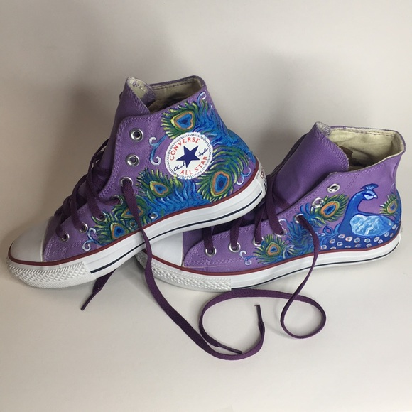 CONVERSE custom painted Wm's 7, Men's 5, Eur 37.5